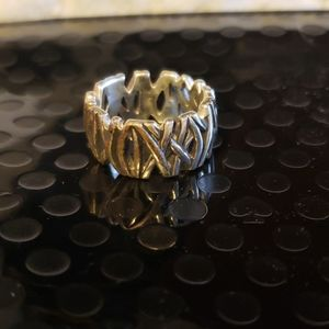 Sterling Silver womens thick unique ring